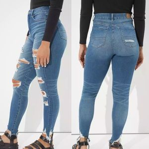 american eagle curvy highest rise jegging jeans